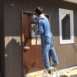 松本市M様邸はなれ新築工事~DIY塗装~