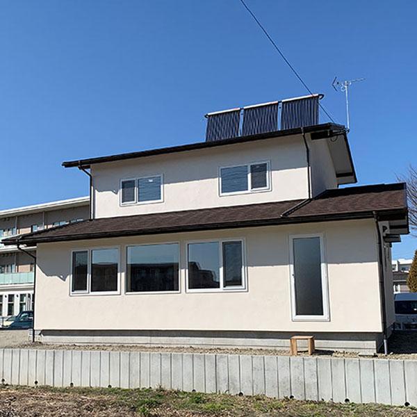 太陽集熱で暖房&給湯/K邸