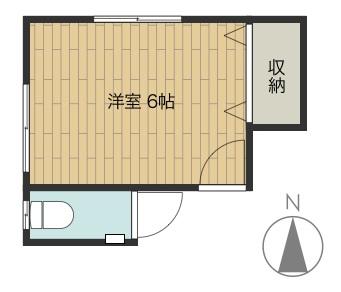 間取り図:間借りする部屋。2階北西側になります