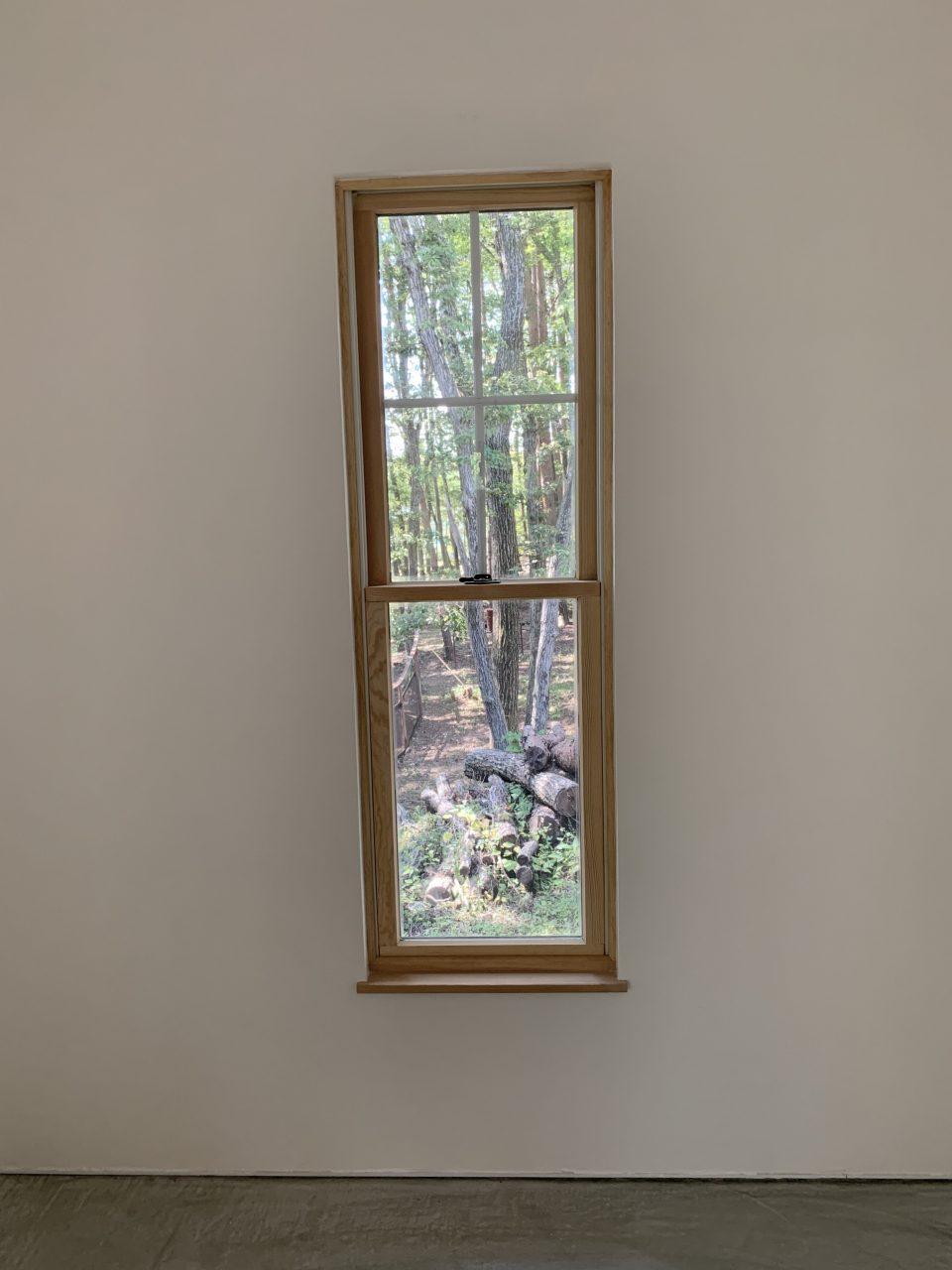 視界の先には西の森が広がり、ドッグランを観ることができる。 ここに居心地のいいソファーとスタンドライトを置くといい場所になるハズ。